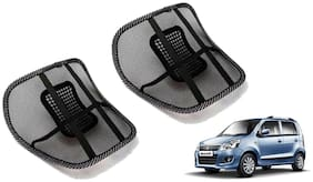 Riderscart Black Mesh Front Seat Premium Quality Back Rest Back Rest with Mesh Support Posture Support & Lumbar Support Pillow;Back Pain Support Cushion Seating Pad For Maruti Suzuki WagonR Car