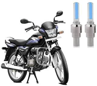 Riderscart Blue Bike Tyre LED Light Wth Motion Sensor Tyre Light Blue Fancy Light Tail Light Plastic for Hero Splendor Bike