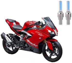 Riderscart Blue Bike Tyre LED Light Wth Motion Sensor Tyre Light Blue Fancy Light Tail Light Plastic for Tvs Apache N 310 Bike