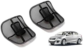 Riderscart Black Mesh Front Seat Premium Quality Back Rest Back Rest with Mesh Support Posture Support & Lumbar Support Pillow;Back Pain Support Cushion Seating Pad For Maruti Suzuki Ciaz Car