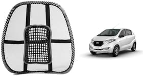 Riderscart Black Mesh Front Seat Premium Quality Back Rest Back Rest with Mesh Support Posture Support & Lumbar Support Pillow;Back Pain Support Cushion Seating Pad For Datsun Redigo Car (Pack of 1)