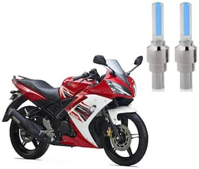 Riderscart Blue Bike Tyre LED Light Wth Motion Sensor Tyre Light Blue Fancy Light Tail Light Plastic for Yamaha R 15 Bike