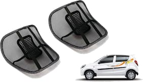 Riderscart Black Mesh Front Seat Premium Quality Back Rest Back Rest with Mesh Support Posture Support & Lumbar Support Pillow;Back Pain Support Cushion Seating Pad For Maruti Suzuki Alto Car