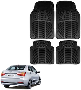 Riderscart Premium Quality Rubber 4 pc Mat For Hyundai Xcent Car