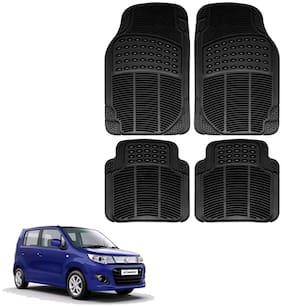 Riderscart Premium Quality Rubber 4 pc Mat For Maruti Suzuki WagonR Car