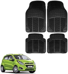 Riderscart Premium Quality Rubber 4 pc Mat For Chevrolet Beat Car