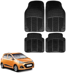 Riderscart Premium Quality Rubber 4 pc Mat For Hyundai Grand i10 Car