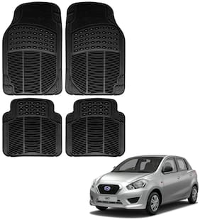 Riderscart Premium Quality Rubber 4 pc Mat For Datsun GO Car
