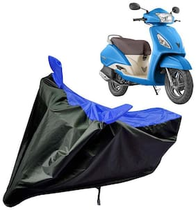 Riderscart Water Proof Black and Blue Bike Cover For Tvs Jupiter