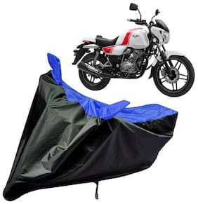 Riderscart Water Proof Black and Blue Bike Cover For Bajaj V 15