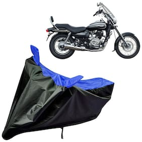 Riderscart Water Proof Black and Blue Bike Cover For Bajaj Avenger 220 Cruise