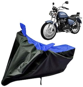 Riderscart Water Proof Black and Blue Bike Cover For Royal Enfield Thunderbird 500 X