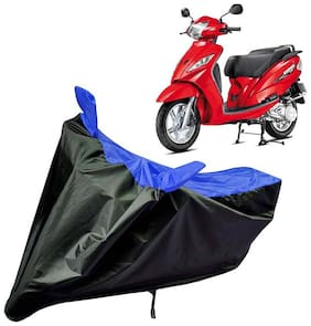 Riderscart Water Proof Black and Blue Bike Cover For TVS Wego