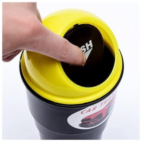 Right traders Car Trash Bin Storage Mini Delicate Car Garbage Can Vehicle Trash Can Garbage Dust Case Holder (pack of 1)