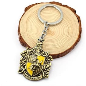 Right Traders Harry Potter Hufflepuff Badge Keychain  (pack of 1) golden
