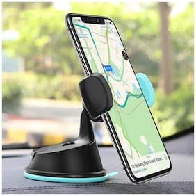 Roeid All Purpose Car Mount Phone Holder for Dashboard Windshield AC Vent 360 Degree Rotate Mount with safe Grip Mobile Holder (Assorted)