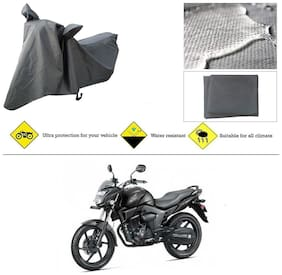 Ronish 100% Waterproof & Heavy Quality Bike Body Cover for Standard Size Grey for Honda CB Trigger