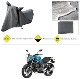 Ronish 100% Waterproof & Heavy Quality Bike Body Cover for Standard Size Grey for Yamaha FZ