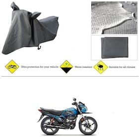 Ronish 100% Waterproof & Heavy Quality Bike Body Cover for Standard Size Grey for Hero Passion Pro TR