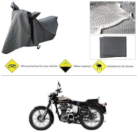 Ronish 100% Waterproof & Heavy Quality Bike Body Cover for Standard Size Grey for Royal Enfield Bullet 350