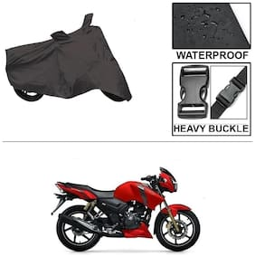 Ronish 100% Waterproof & Heavy Quality Bike Body Cover for Standard Size Black for TVS Apache RTR 160