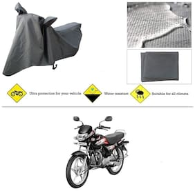 Ronish 100% Waterproof & Heavy Quality Bike Body Cover for Standard Size Grey for Hero HF Deluxe