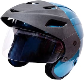 Rotomac Blue Open Face ISI Motorbike Helmet