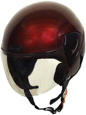 Rotomac Cub Wine Red Open Face ISI Motorbike Helmet