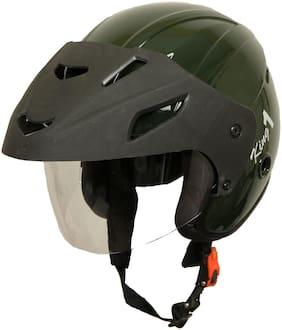 Rotomac Military Green Open Face ISI Motorbike Helmet