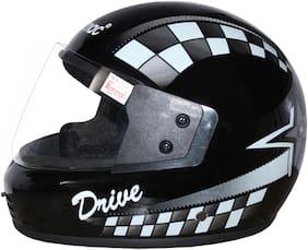 Rotomac Silver Full Face ISI Mark Solid Plastic Helmet