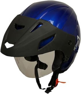 Rotomac Touchcap Victor Blue Open Face ISI Motorbike Helmet