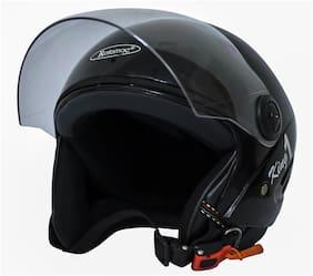 Rotomac Track Black Open Face ISI Motorbike Helmet