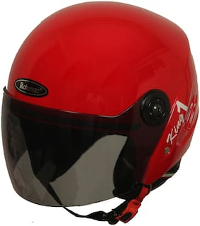 Rotomac Track Red Open Face ISI Motorbike Helmet