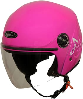 Rotomac Track Pink Open Face ISI Motorbike Helmet