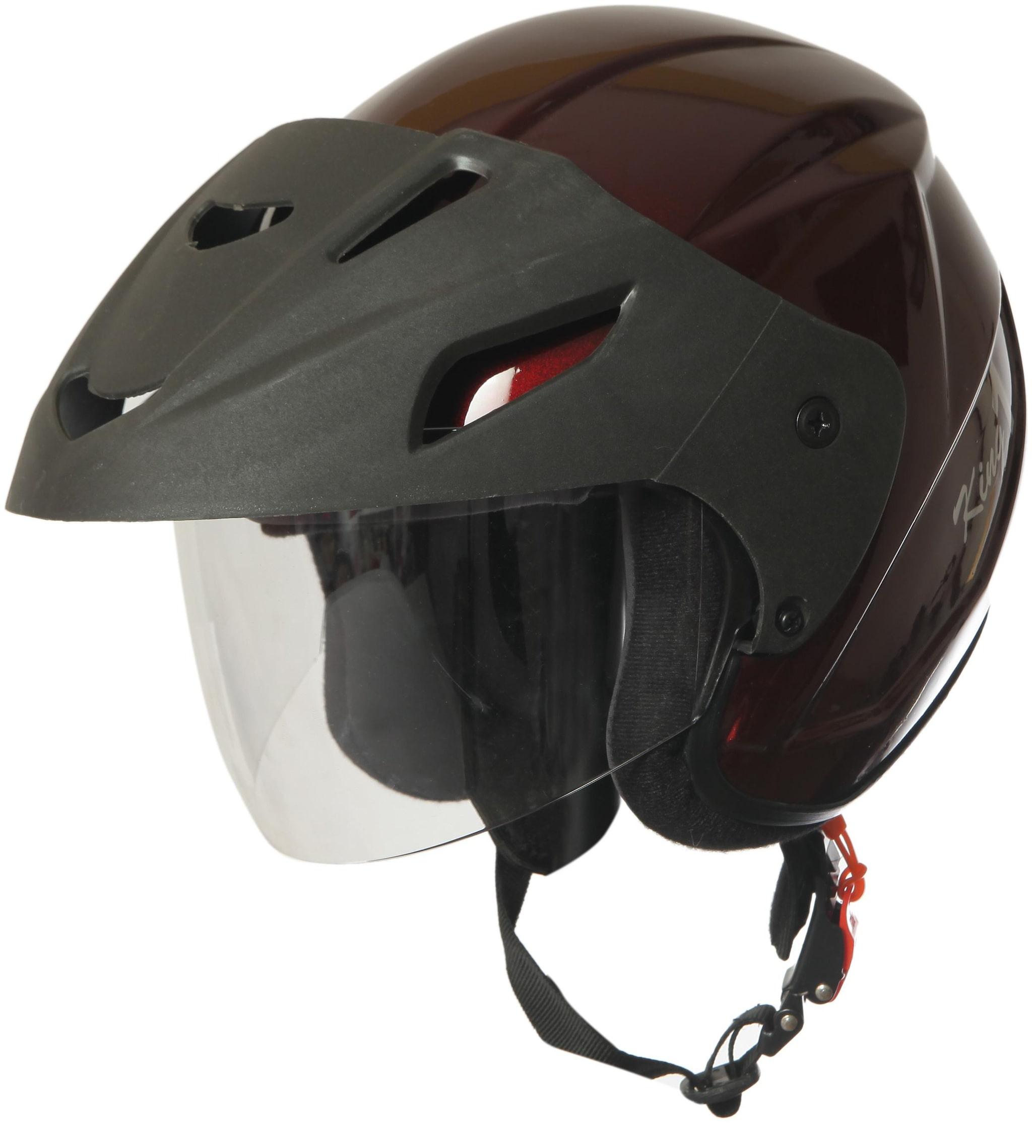 Rotomac Wine Red Open Face ISI Motorbike Helmet