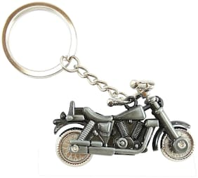 Royal Enfield Bike Model/Bullet Metal Keychain (Silver)  Sold by Evershine gifts And Household