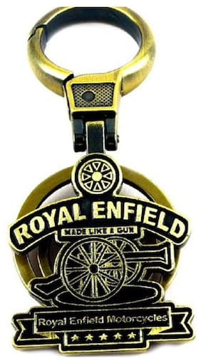 Royal Enfield Metal Keychain for Cars and Bikes Green