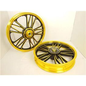 Royal erado royal bikes harley y design alloy wheel golden black for classic desert storm