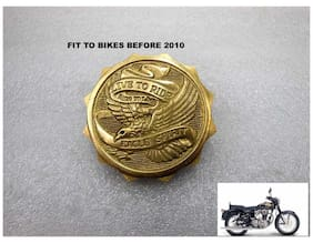 Royal Erado Brass ROYAL ERADO BIKE 500Cc Petrol Tank Cap Drive To Ride Eagle Spirit Before 2010 Model Non-Twinspark