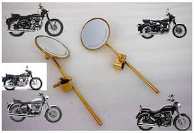 ROYAL ERADO BIKE Bsa Norton Harley Chopper Bobber Straight Rear View Mirror Brass