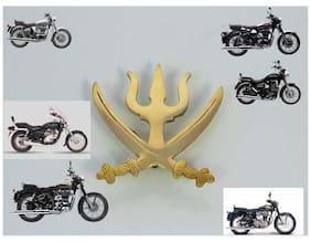 Royal Erado Car Bikes ROYAL ERADO BIKE Army Trishul Monogram Badge Emblem Brass