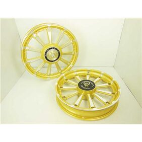 Royal erado royal bikes classic 11 spokes rajputana alloy wheels golden desert storm