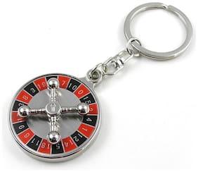 Rudham Keychain Keyring Roulette Casino 360 deg Rotating Key Ring Chain