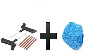 s4d tyre puncher kit with free hand gloves one pic assorted color