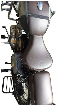 Sahara GunMetal Coffee Brown Seat Cover And Tank Cover For Royal Enfield Classic 350/500