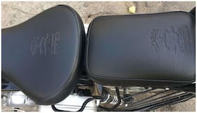Sahara Royal Enfield/Classic 350/500/Black Seat Cover/Black Tank Cover/Sahara/with logo