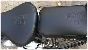 Sahara Royal Enfield/Classic 350/500/Black Seat Cover/Black Tank Cover/Sahara/with logo