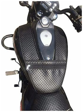 SaharaSeats Sahara Dotted Tank Cover/Bag for Bajaj Avenger 150/220, (Black, SAHARA063)