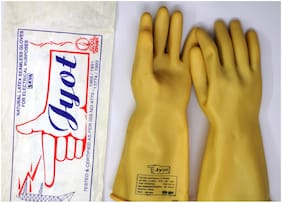 Sai Safety 11 KVA Jyot Electrical Insulated Rubber Seamless Hand Gloves (355 MM)