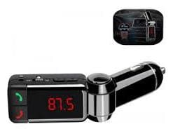 Shopline Sales 3 In1 Dual USB Wireless in-Car Fm Transmitter for Car;Bluetooth Hands Free Kit and USB Car Charger;Mp3 Player